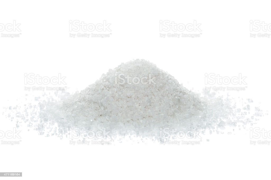 Ocean salt crystals stock photo
