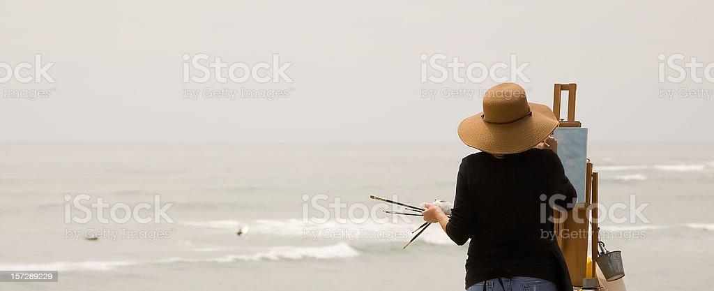 Ocean Scene Painter stock photo