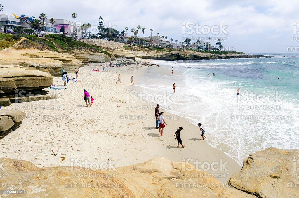 Ocean shore at La Jolla in San Diego, CA royalty-free stock photo