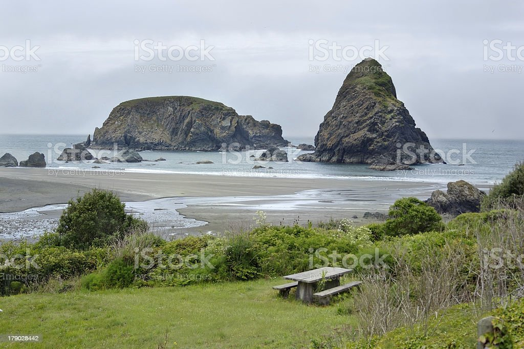 Ocean shore in Samuel Boardman state par, Whaleshead, Oregon, US stock photo