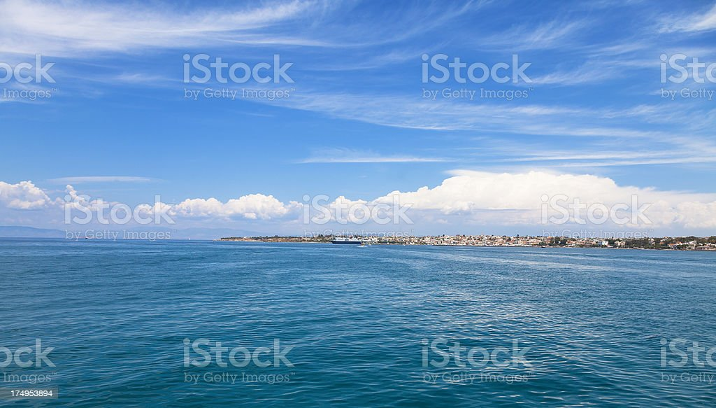 Ocean shore of an island in the summer royalty-free stock photo