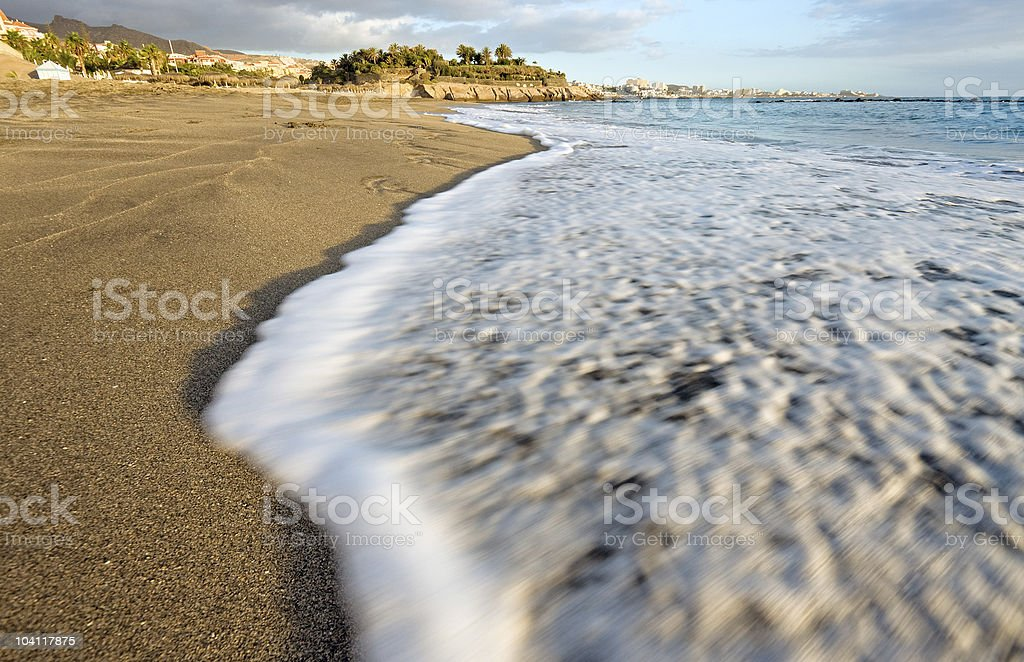 Ocean shore, Tenerife, Spain stock photo