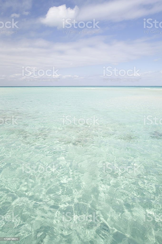 Ocean & sky (vertical) stock photo