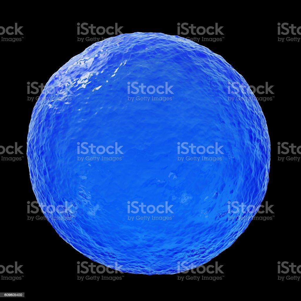 Ocean sphere - 3D illustration stock photo