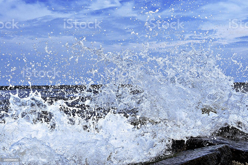 Ocean Splash royalty-free stock photo