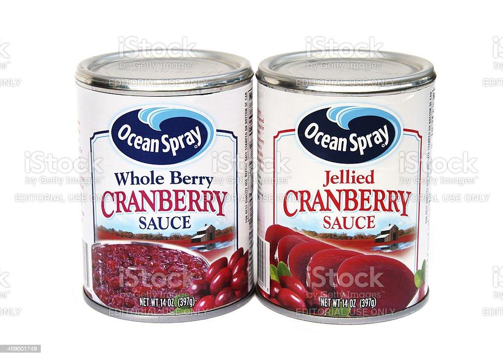 Ocean Spray Cranberry Sauce stock photo