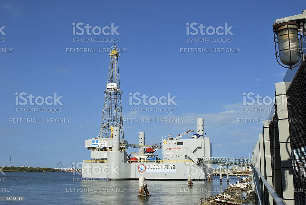 Ocean Star Offshore Drilling Rig Museum stock photo