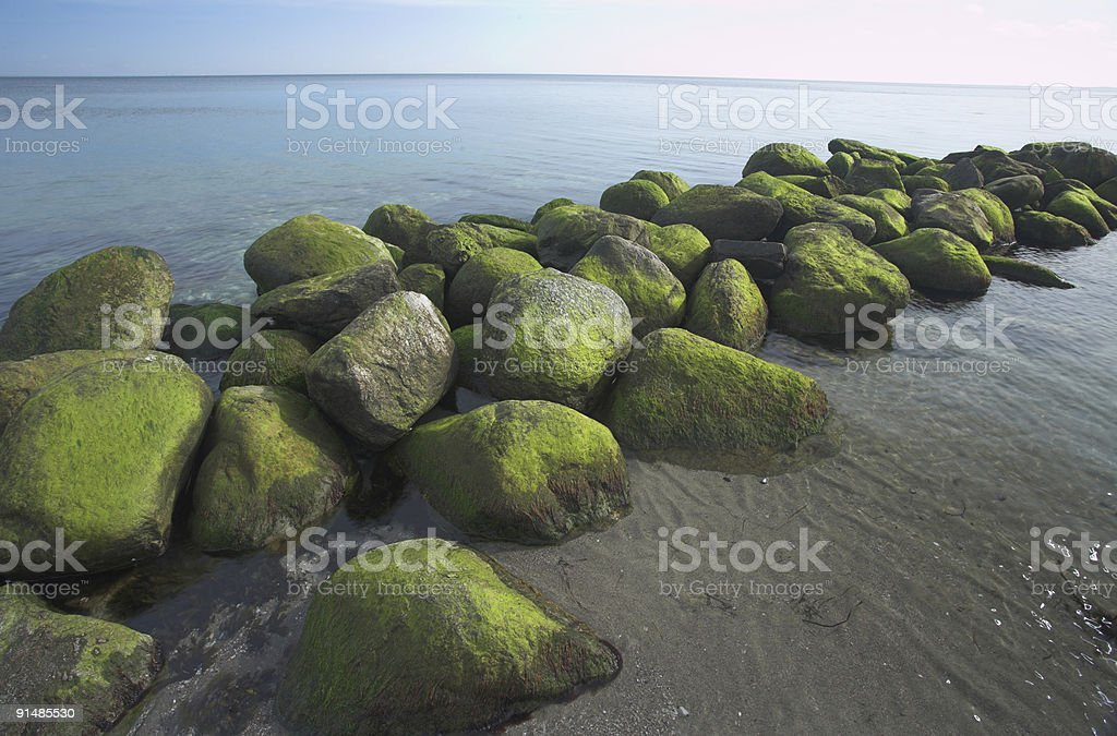 ocean stones royalty-free stock photo
