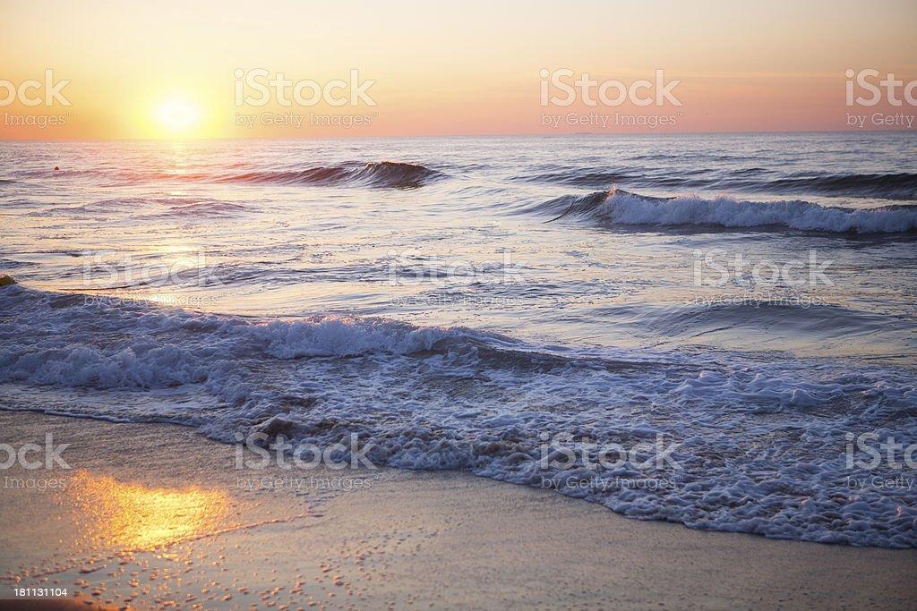 Ocean Sunet stock photo