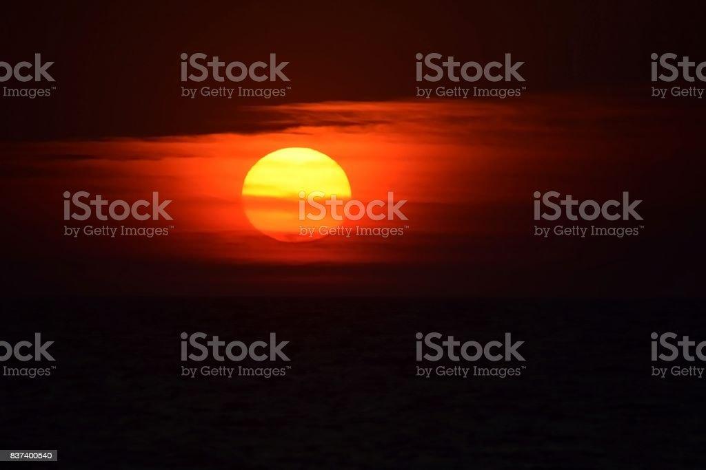 Ocean Sunrise Sunset II stock photo