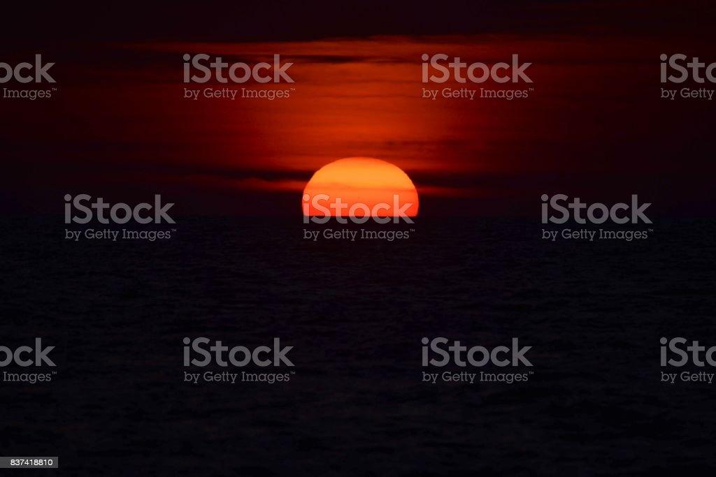 Ocean Sunrise Sunset IV stock photo
