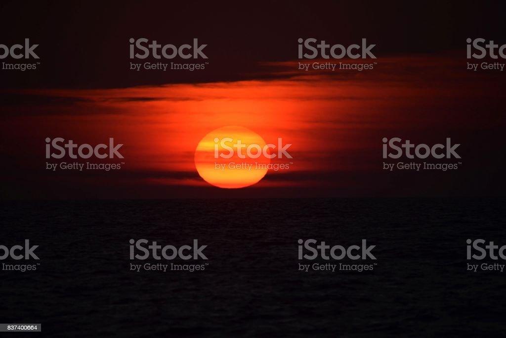 Ocean Sunrise Sunset V stock photo