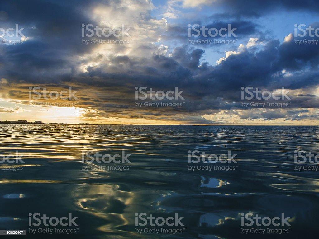 Ocean sunset royalty-free stock photo