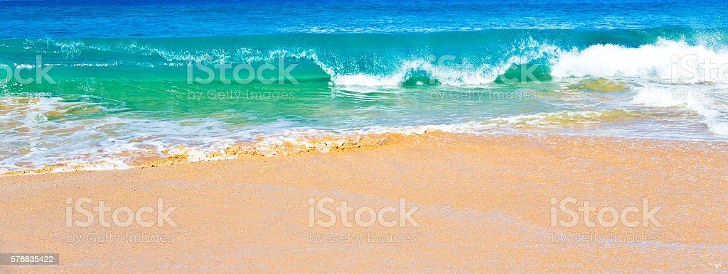 Ocean Surf in Maui Hawaii stock photo