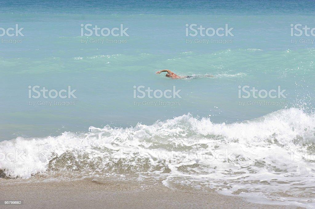 Ocean Swimmer stock photo