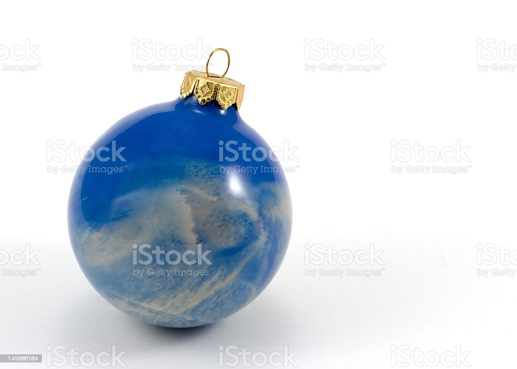 Ocean Swirl Christmas Ornament royalty-free stock photo
