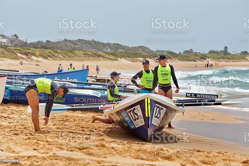 Ocean Thunder surf rowing competition, Sydney stock photo