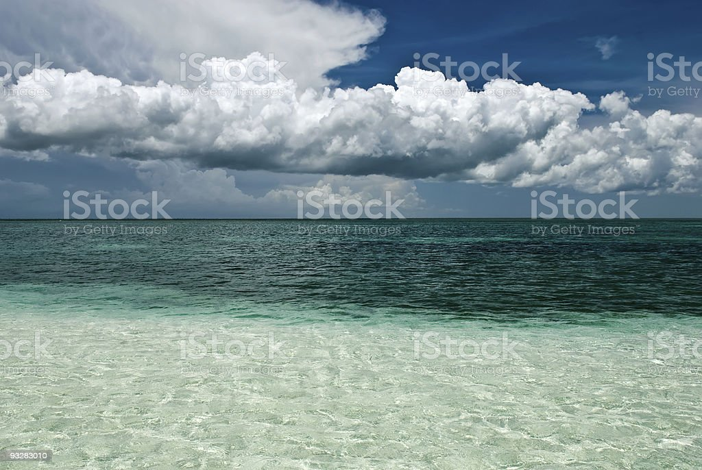 Ocean to horizon stock photo