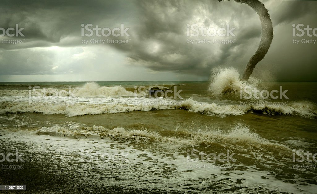 ocean tornado royalty-free stock photo