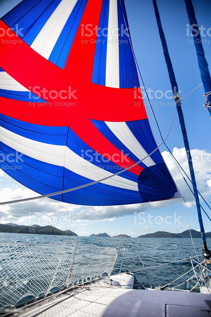 Ocean View from a Boat stock photo