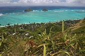 ocean view from Lanikai, Oahu, Hawaii