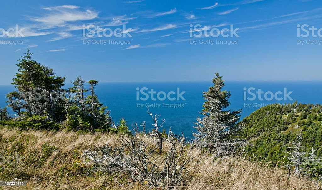 Ocean view from the Cape breton highlands royalty-free stock photo