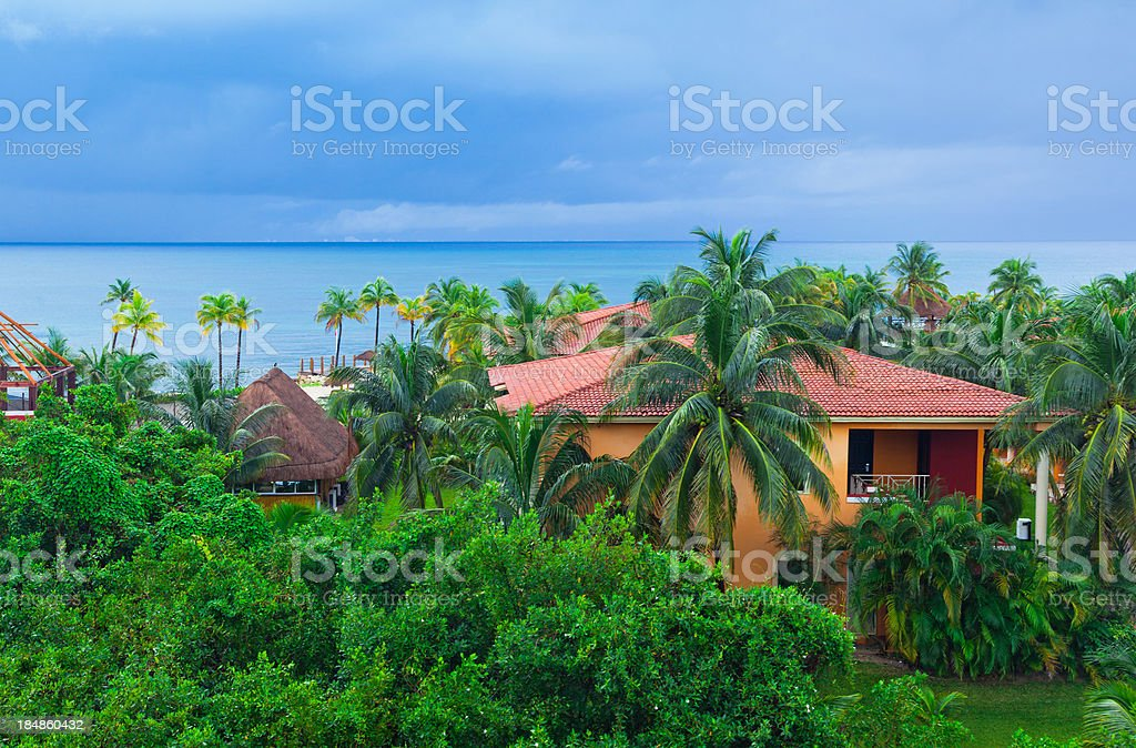 ocean view in mexico panorama royalty-free stock photo