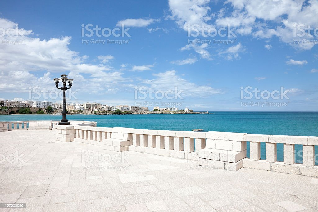 Ocean view of tornado seafront royalty-free stock photo