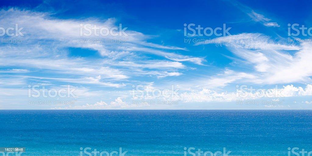 Ocean View Panorama XXXL royalty-free stock photo