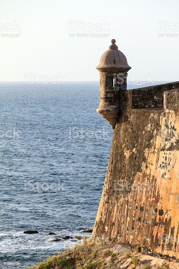 Ocean view turret stock photo