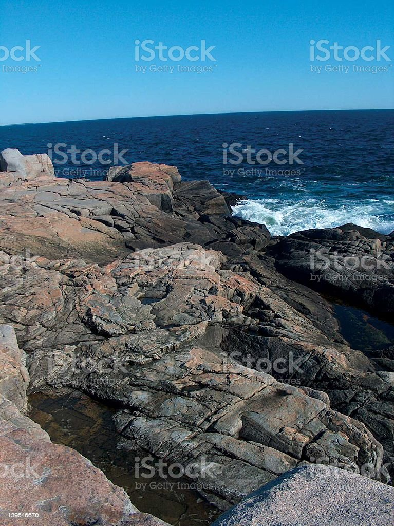 Ocean View with Rocks royalty-free stock photo