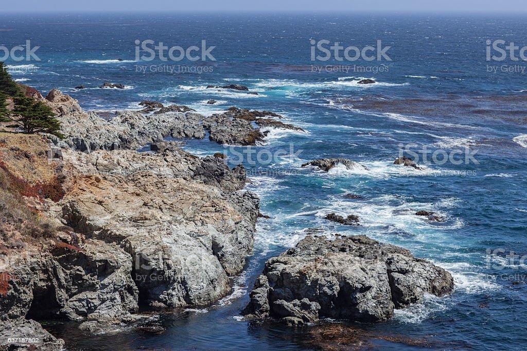 Ocean vista near Big Sur, California, USA stock photo