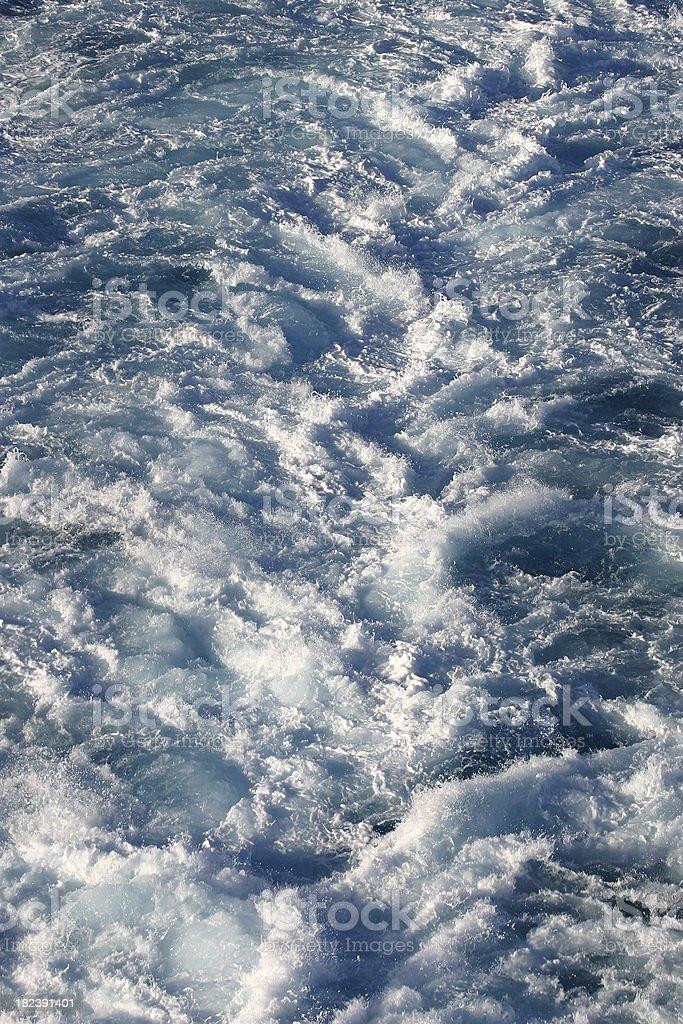 Oceano wake foto stock royalty-free