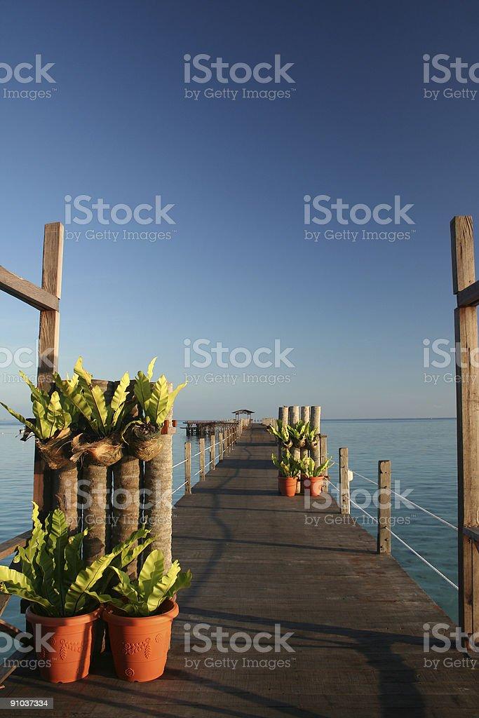 ocean walkway royalty-free stock photo