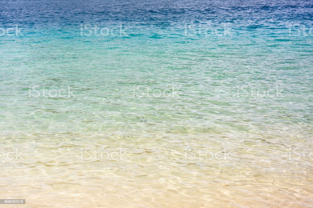 Ocean water background with copy space stock photo