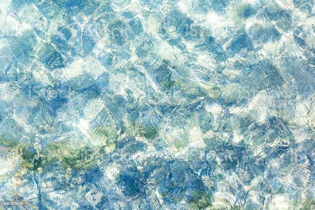 Ocean water, beautiful abstract nature background, copy space stock photo
