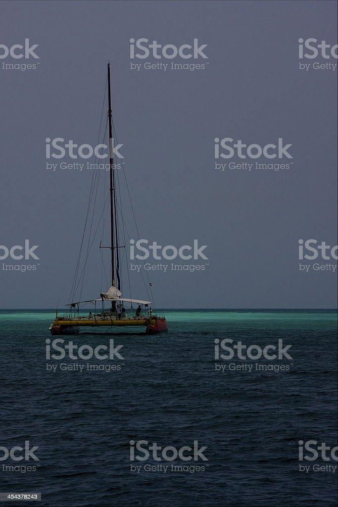 ocean water catamaran  boat royalty-free stock photo