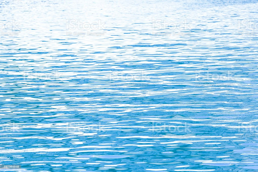 Ocean water in sunshine, beautiful nature background,  copy space stock photo