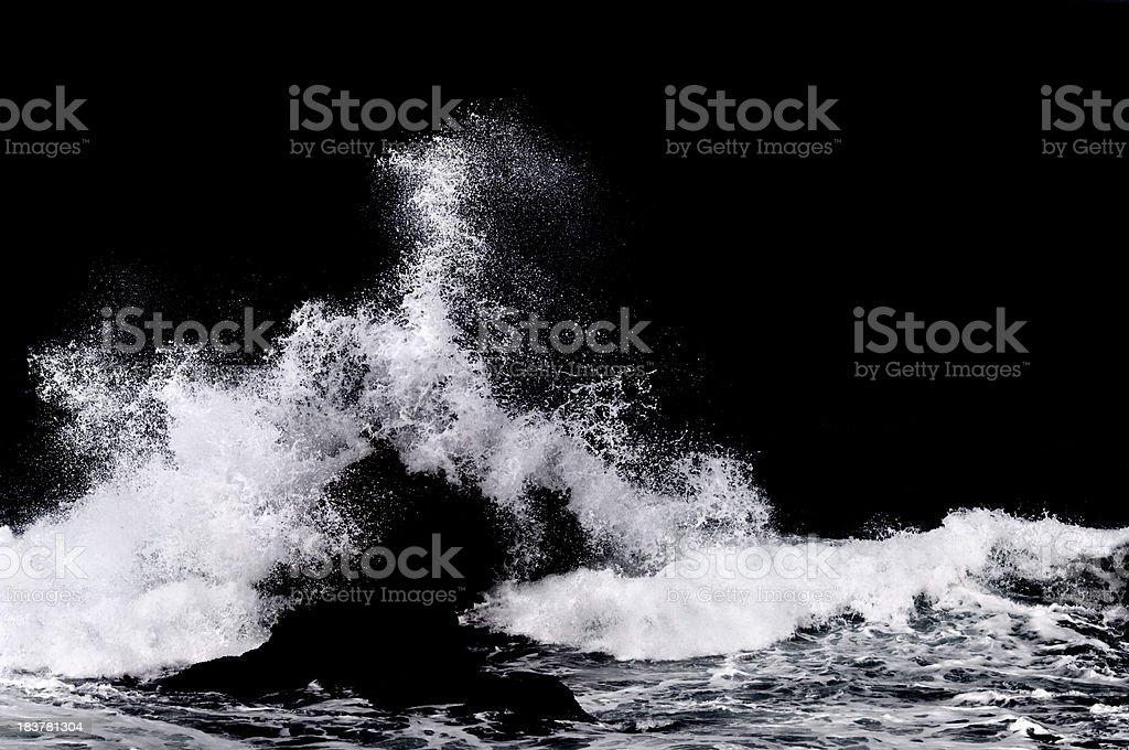 Ocean Water Splash Isolated on Black stock photo