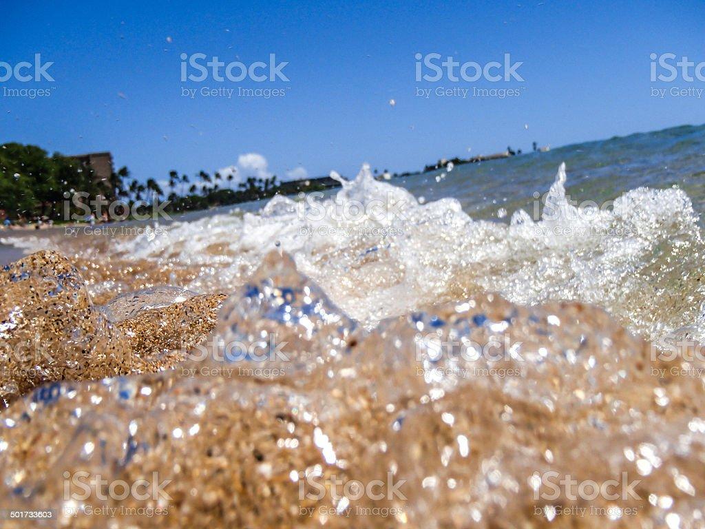 Ocean Wave Close  Up stock photo
