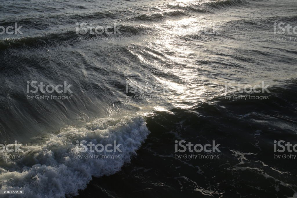 Ocean wave. Close up stock photo