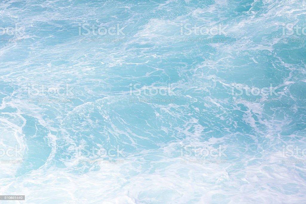 Ocean waves, beautiful water background with copy space stock photo
