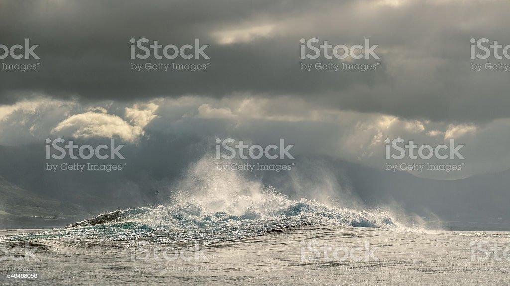 Ocean waves breaking stock photo
