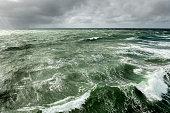 ocean waves during storm