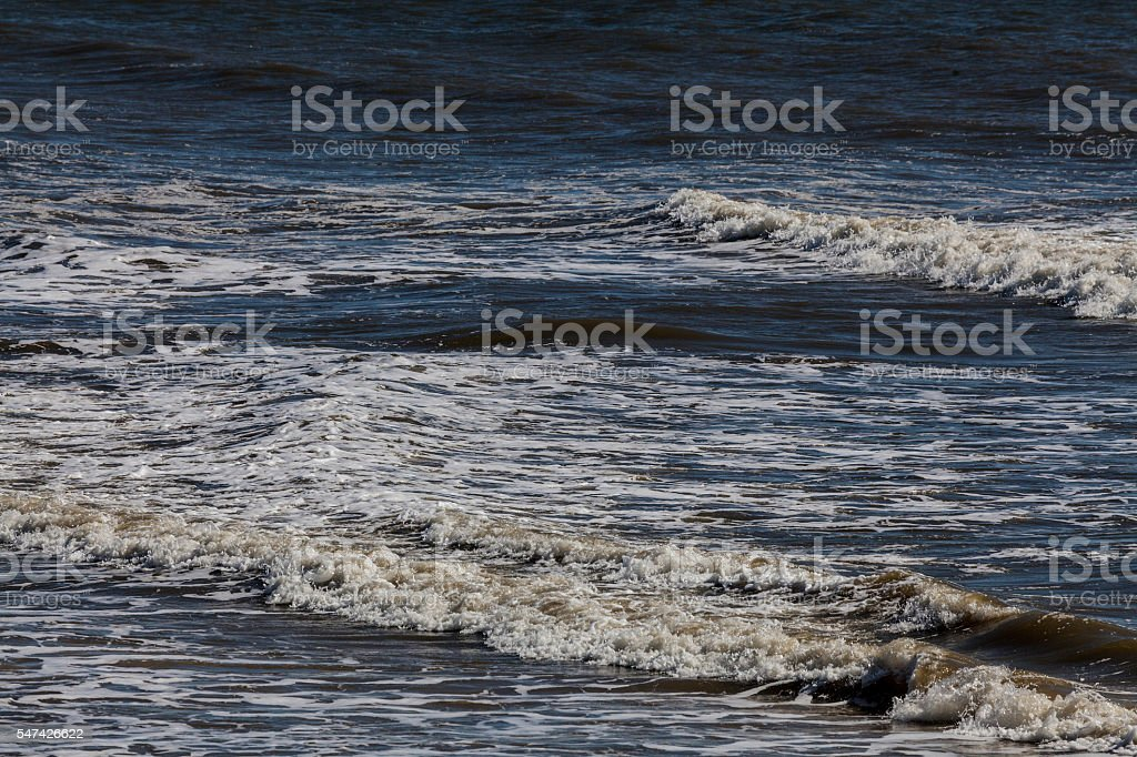 Ocean Waves of Gulf Shore stock photo