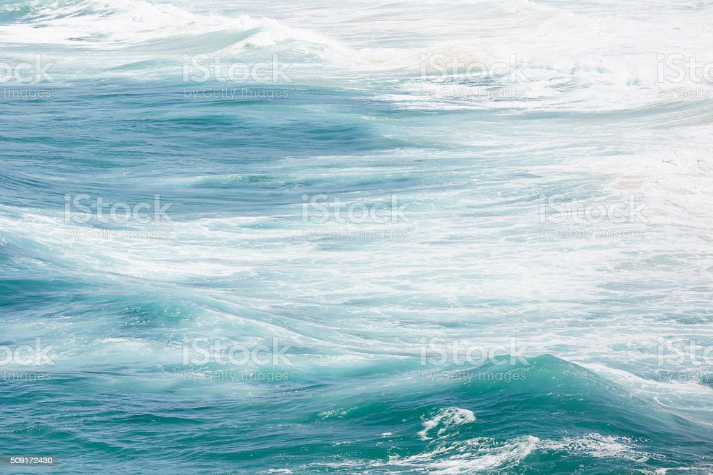 Ocean waves, water background with copy space stock photo
