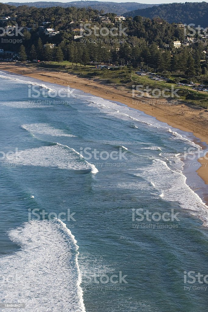 Ocean waves with a coast royalty-free stock photo