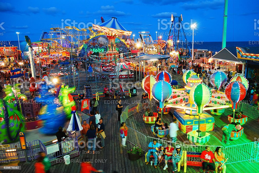 Oceanfront Amusements stock photo