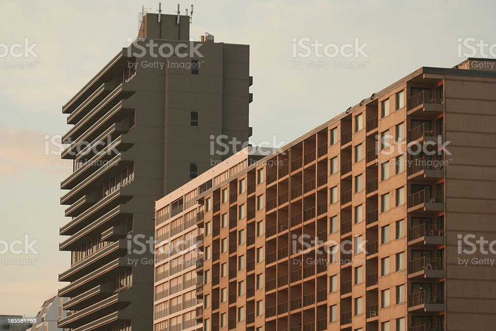 Oceanfront Condos royalty-free stock photo