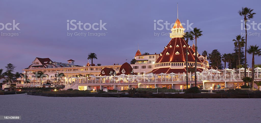 Oceanfront Hotel royalty-free stock photo